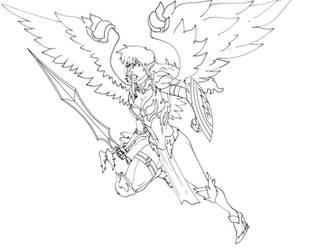 Warrior Angel Naia by Sekikumo