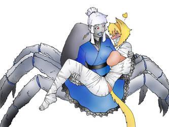 Spider Cuddles by Sekikumo