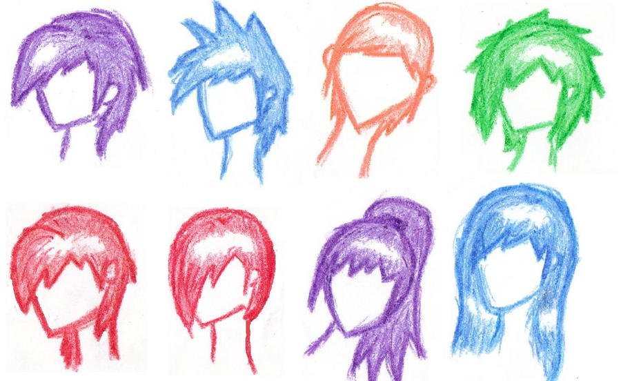 Anime Hairstyles By Ebony Rose13 On Deviantart