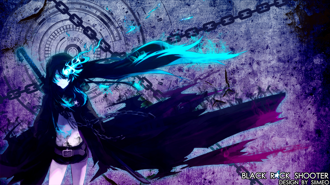 black rock shooter wallpapersiimeo on deviantart