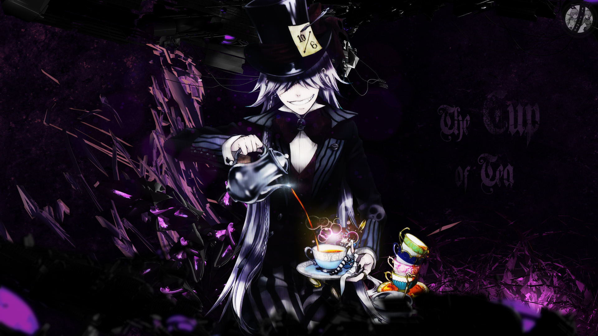 the cup of tea black butler wallpaper by siimeo on