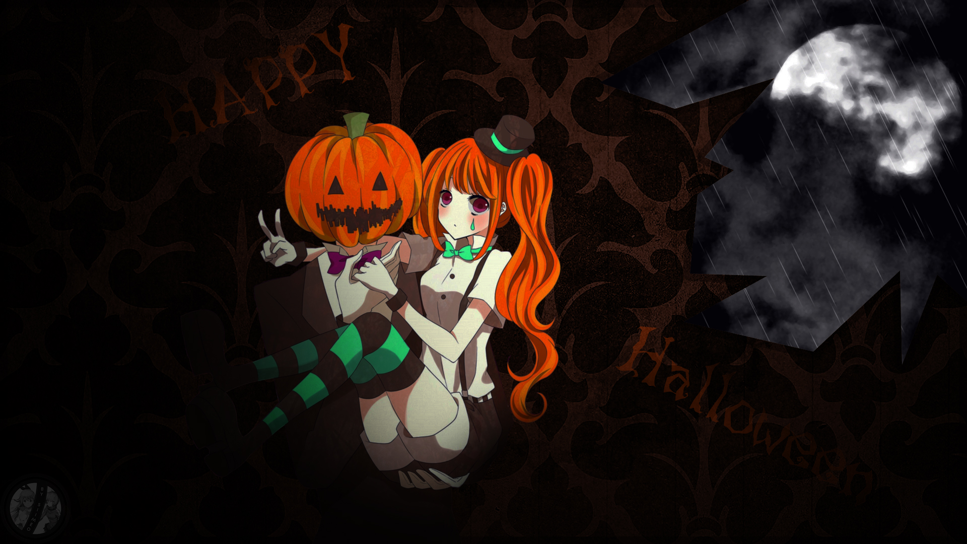 happy halloween anime wallpaper by siimeo on deviantart