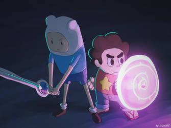 Steven and Finn! by izumi07