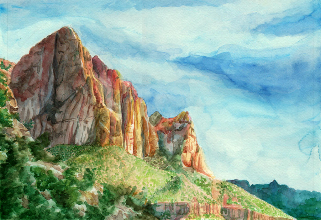 Navajo in the Distance by Kiki-Tayler