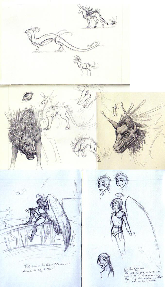 Diyes Sketchdump 2 by Kiki-Tayler