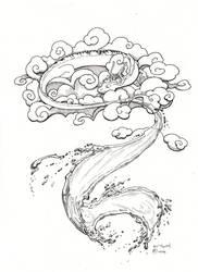 Inktober 10 Flowing by Kiki-Tayler