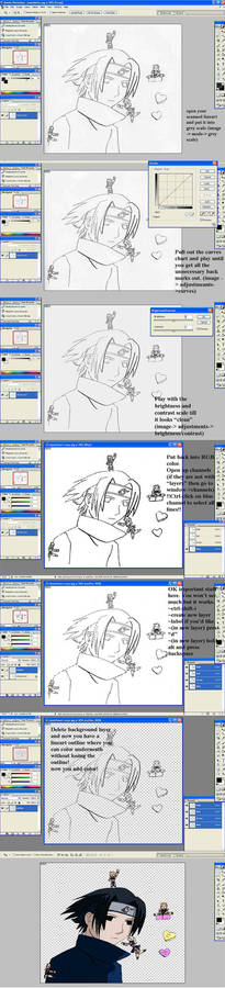 Lineart cleaning tutorial