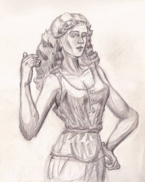 Woman Sketch from Imagination