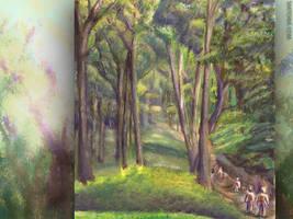 Forest Murmurs Wallpaper by Sketchee