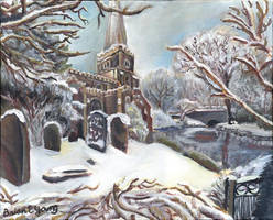 A Church in Winter by Sketchee