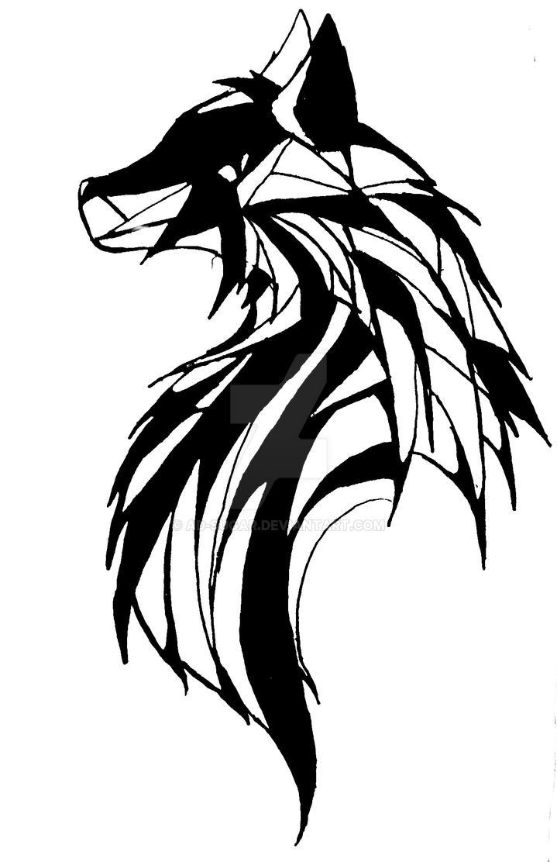 Lineart Wolf Tattoo : Wolf tattoo by ad sugar on deviantart