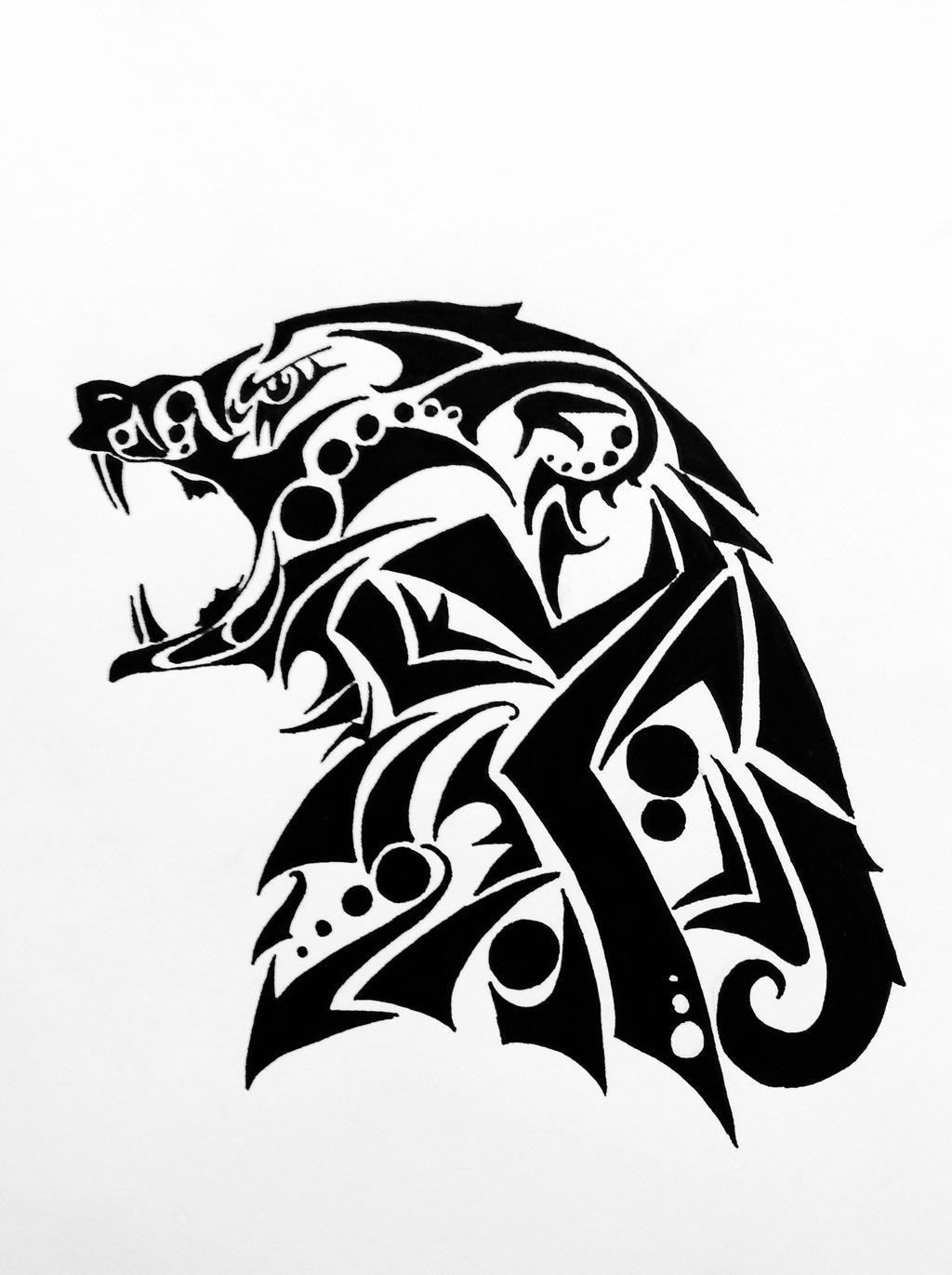 The gallery for --> Tribal Deer Head Design Bear Design