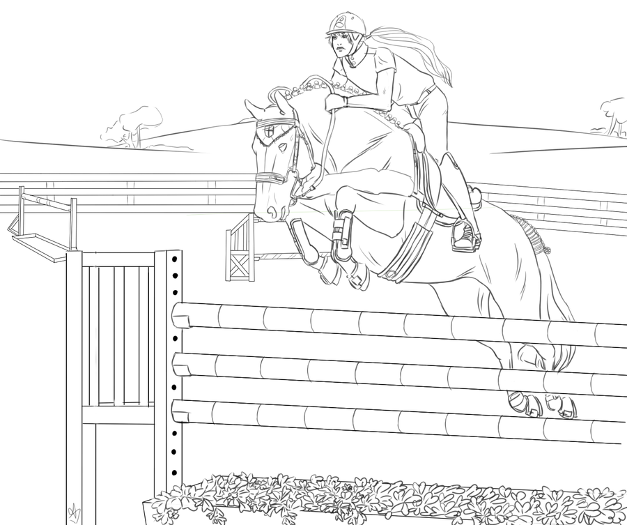 Cross Country Horse Pages Coloring