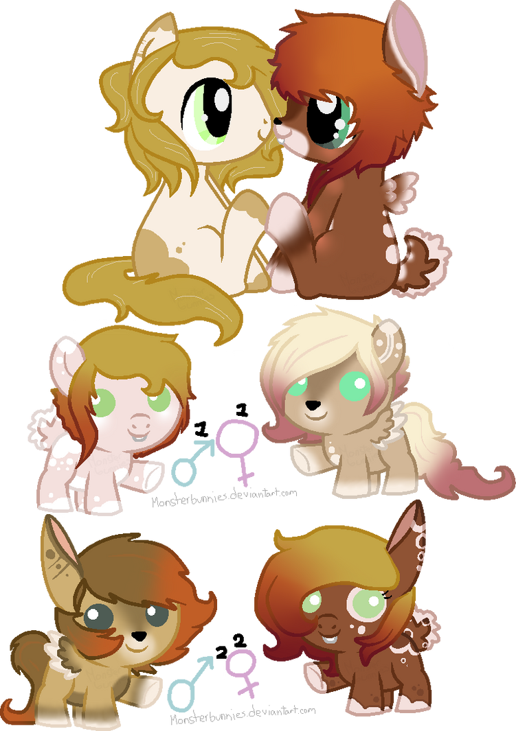 Breedable Deer Pony Babies By Lullabyprince On Deviantart