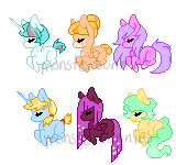 Teeny Ponies adopts by SecretMonsters