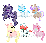 Second Batch of teeny ponies adopts by SecretMonsters