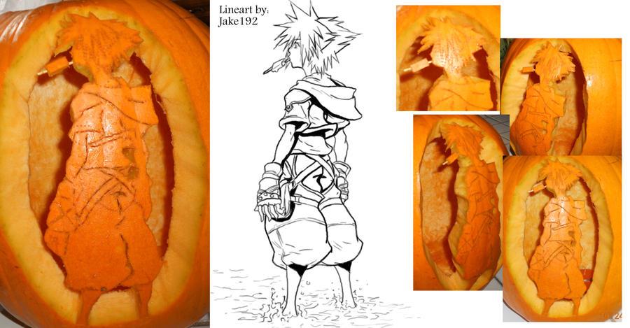 Sora Kingdom Hearts Lineart : Sora kh pumpkin by kabuto on deviantart