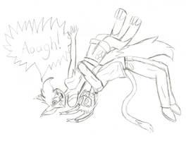 Bobby suplexing Ezmerelda sketch by ezioauditore97