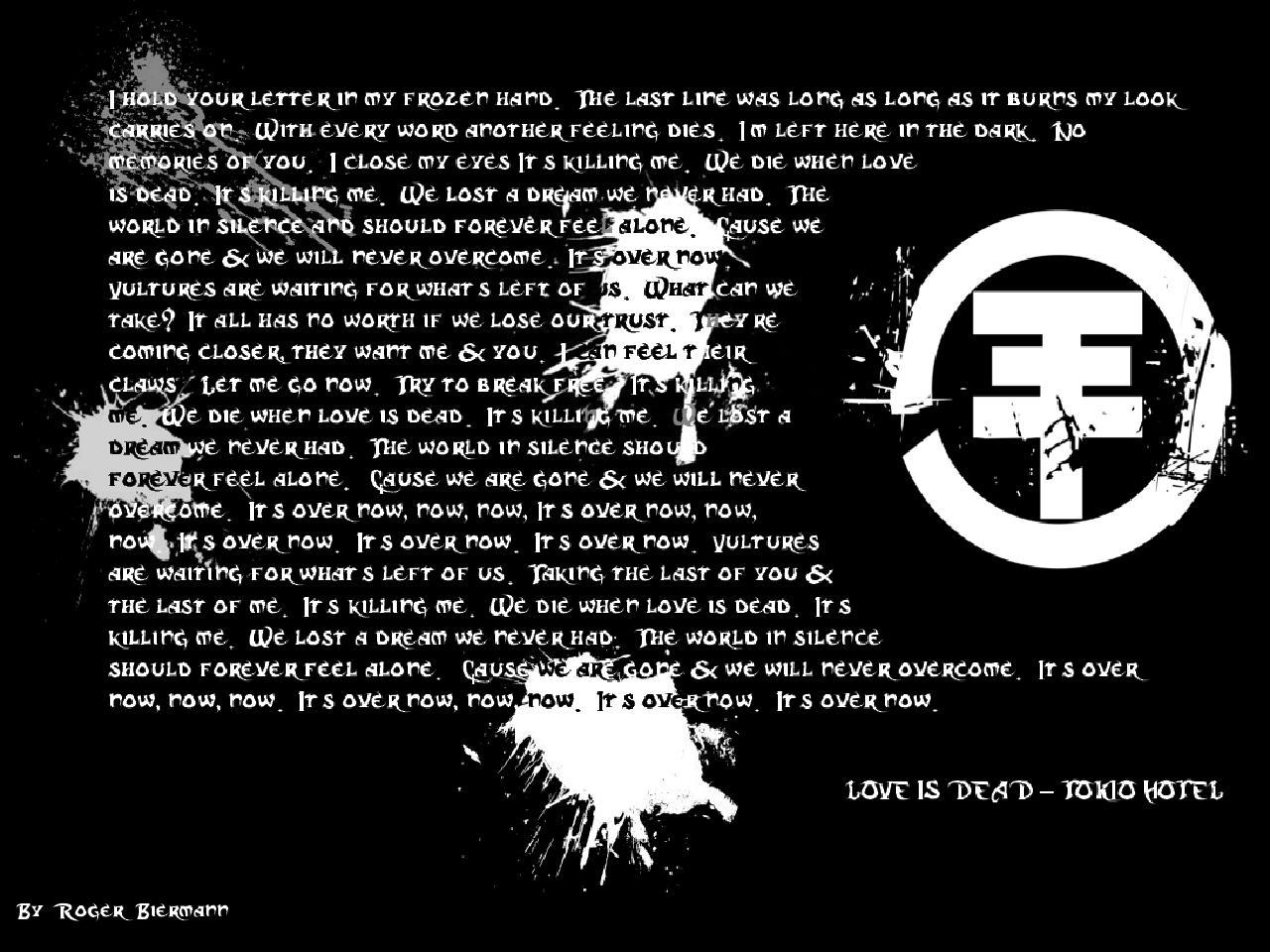 Tokio Hotel Lyric Wallpaper By Vanskof On Deviantart