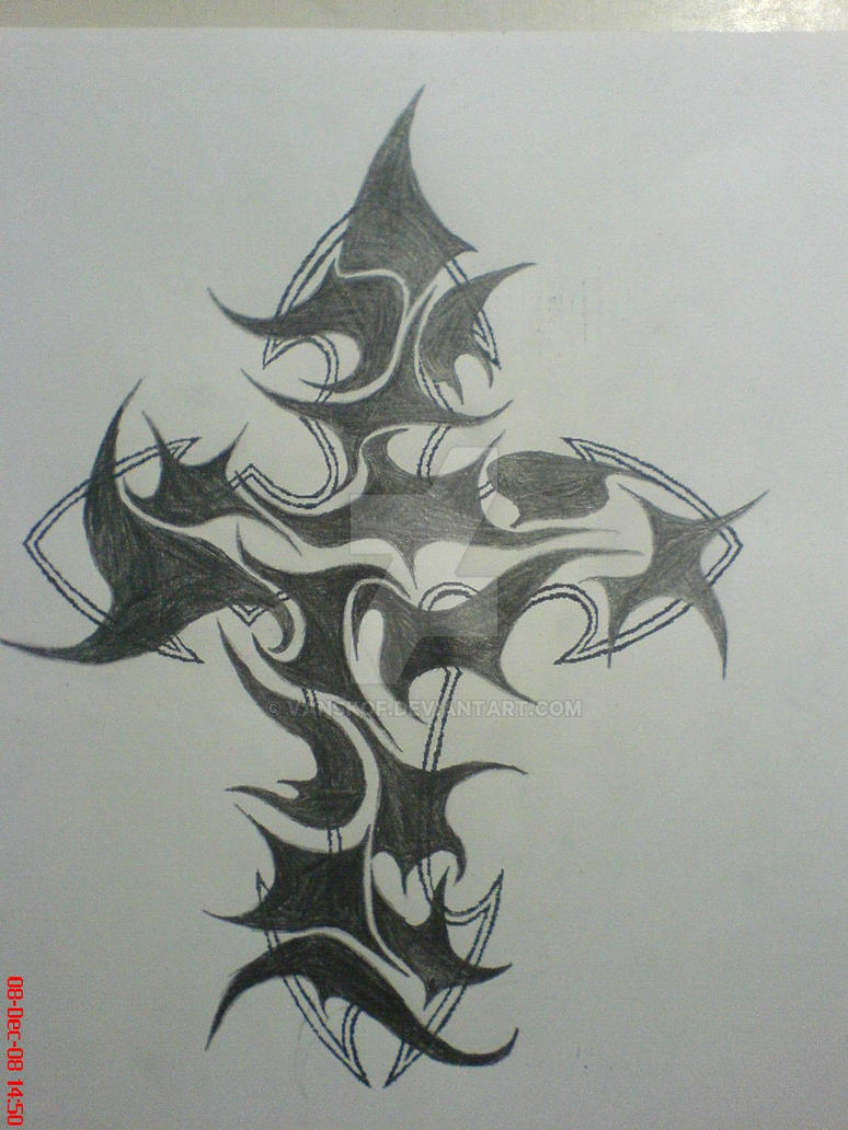 Tribal cross tattoo by Vanskof on DeviantArt