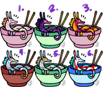 Noodle Dragons ( Open! 6/6 50 points each) by SandBeetle