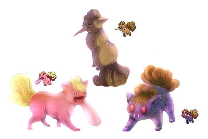 Pokemon morphs by RayCrystal