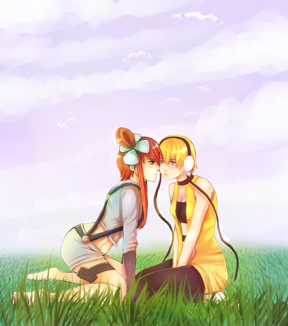 Skyla and Elesa by RayCrystal