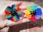 Flowers brooches. Rainbow flowers. by RimmOlki