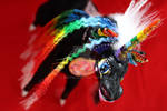 Handmade black rainbow unicorn. Wireframe toy. by RimmOlki