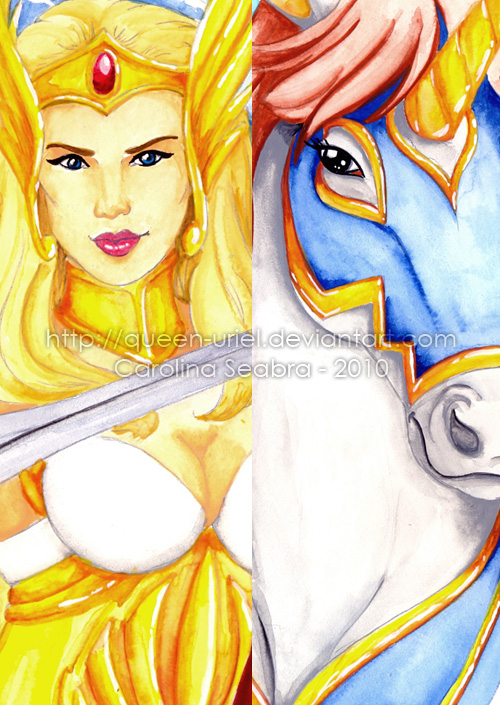 She-ra and SwiftWind Detail by Queen-Uriel