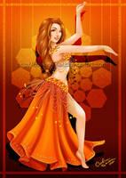 Orange Dancer by Queen-Uriel