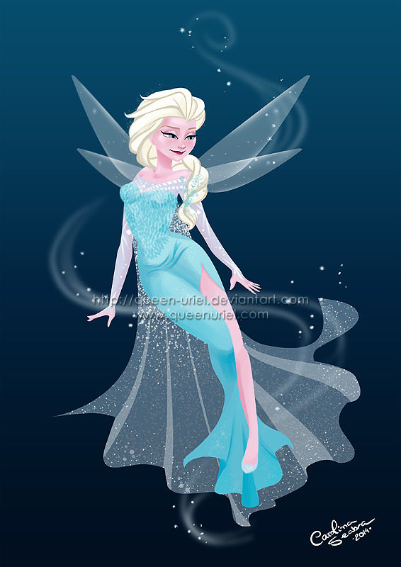 Ice Queen Fairy Elsa by Queen-Uriel