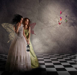 butterfly sisters by BattlePearl