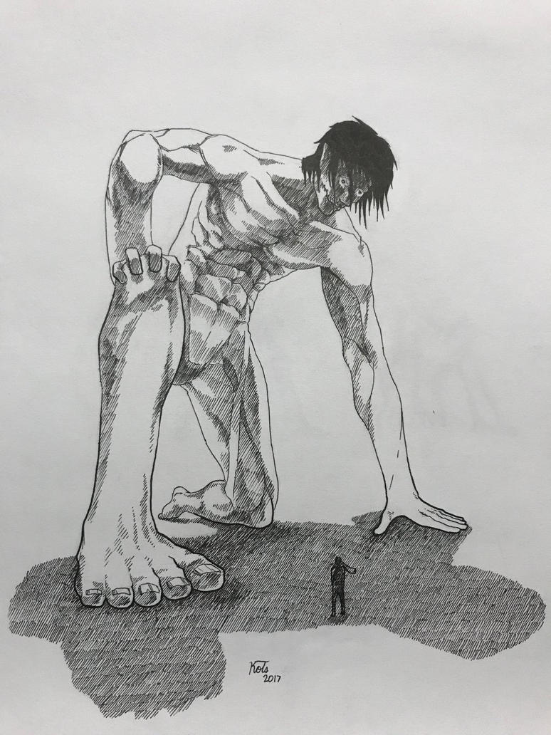 INK-Eren Jaeger(Titan Form) by azfacer
