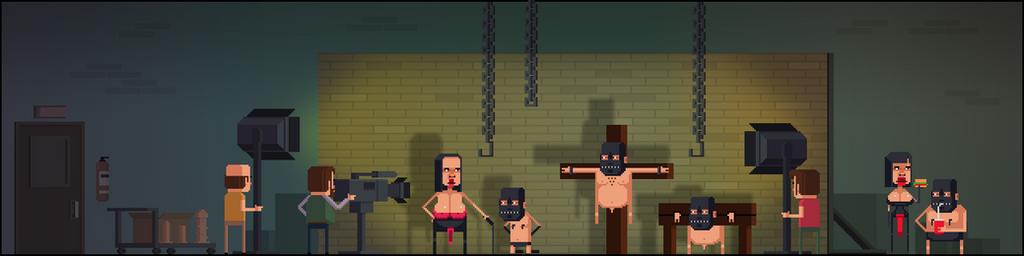 Naked patrol, game background by soldatov81