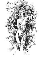 alex ross poison ivy inked by darnet