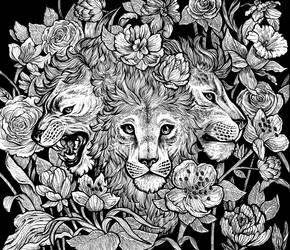 Panthera cerberus by Silkkat