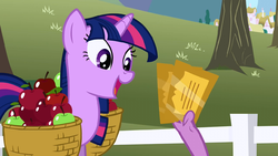Twilight Sparkle overjoyed about tickets S1E03 by XaldinWolfgang