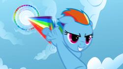 Rainbow Dash performing Sonic Rainboom S01E16 by XaldinWolfgang