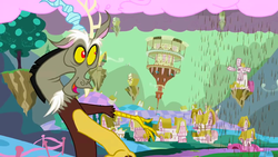 Discord,   First changes of Ponyville   S02E02 by XaldinWolfgang