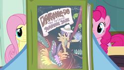 Rainbow Dash holding Daring Do book S2E16 by XaldinWolfgang