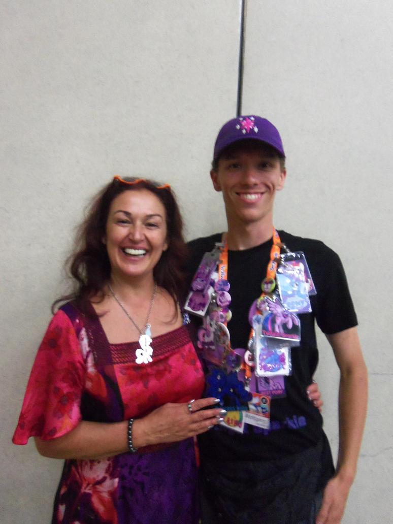 Meeting Tabitha St. Germain at BronyCon 2016 by XaldinWolfgang