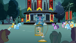 A magic duel at Town Square S3E5 by XaldinWolfgang