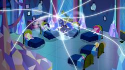 Princess Luna exerts her dream magic further S5E13 by XaldinWolfgang
