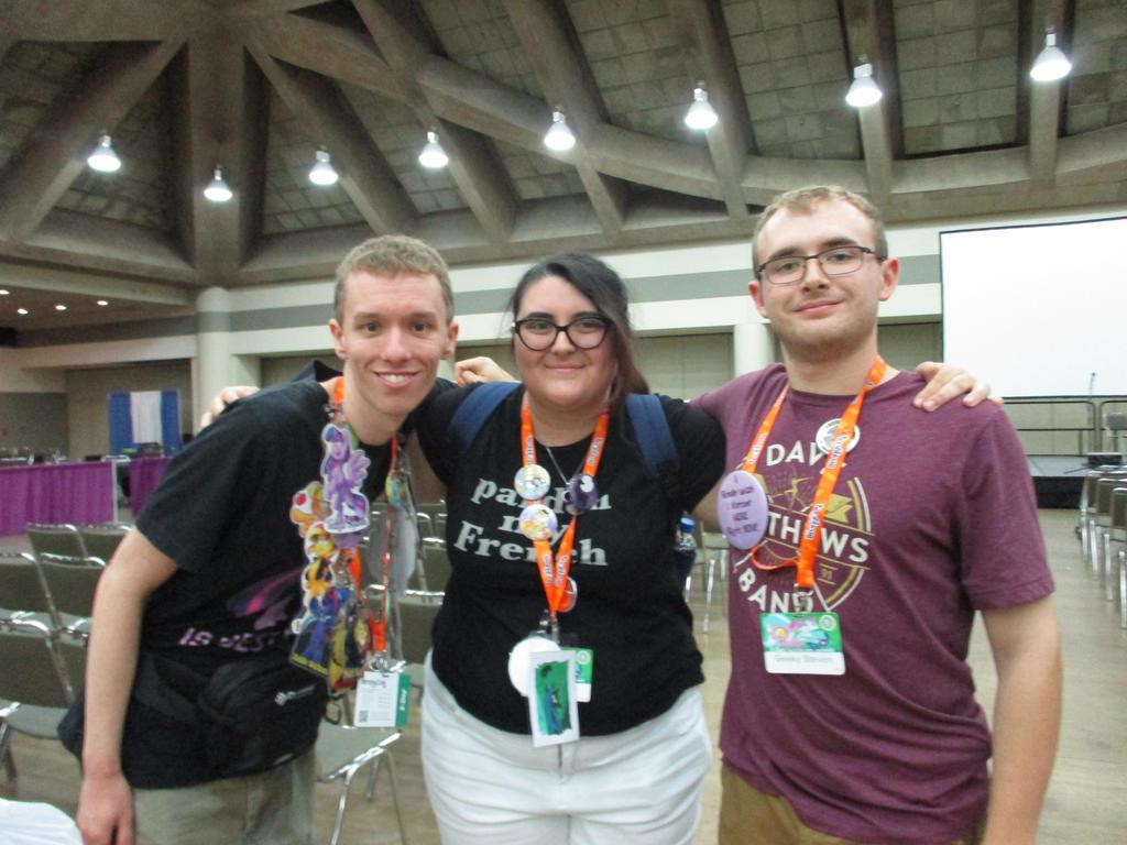 Me, Geeky Steven, MaiKatystar at BronyCon 2018 by XaldinWolfgang