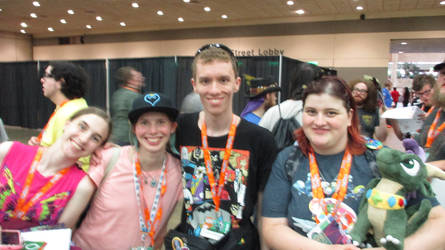 Me, Mahari, Mollie, Passion at BronyCon 2019