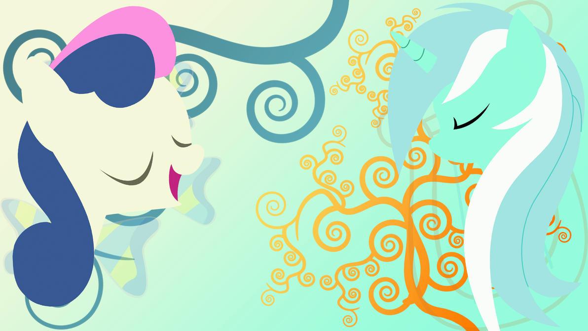 Lyra and Bon-Bon Wallpaper by RikiTheSuperZeldaFan