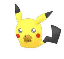 Pikachu nomming Cookie