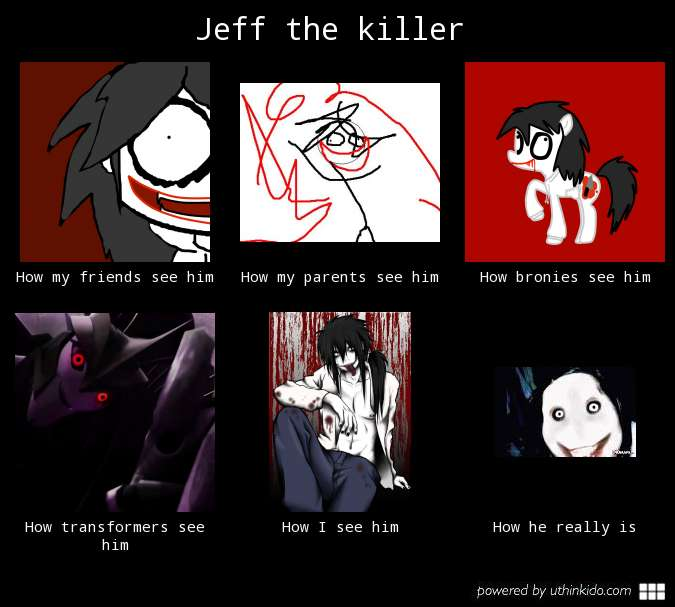 How people see Jeff the killer by Cookie-Waffle