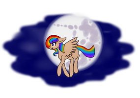 Rainbow in the Night [Commission] by Nyan-2000